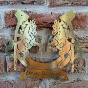 Rearing-Horses- Solid-Brass-Plaque-8