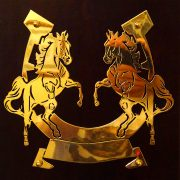 Rearing-Horses- Solid-Brass-Plaque-9