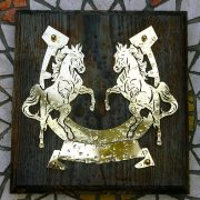 Rearing-Horses- Solid-Brass-Plaque-on-Solid-Oak-Mount-2