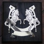 Rearing-Horses- Solid-Brass-Plaque-on-Solid-Oak-Mount-5
