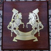 Rearing-Horses- Solid-Brass-Plaque-on-Solid-Oak-Mount-6