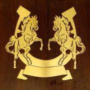 Rearing-Horses- Solid-Brass-Plaque-on-Solid-Oak-Mount-7