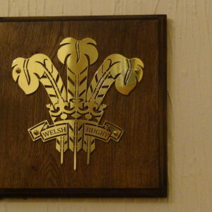 Wales Rugby Design Brass Plaque – Solid Oak Mounted