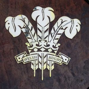 Wales Rugby Design Brass Plaque