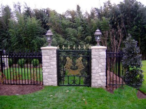 Garden-gate-rearing-horses-brass-iron-railings-Pontypridd-Wrought-Iron  900px