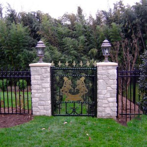 Rearing-Horses-Exclusive-Brass-Plaque-Integrated-Wrought-Iron-Gate-Railing-Wales-1 900px-prod