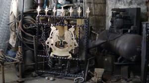 Single-custom-iron-gate-brass-exclusive-rearing-horses-design-Pontypridd-Wrought-Iron-5 1000px